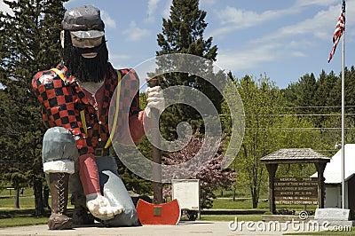 Statue of Paul Bunyan the giant lumberjack Editorial Photography