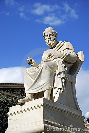 Statue of Plato at the Academy of Athens (Greece)
