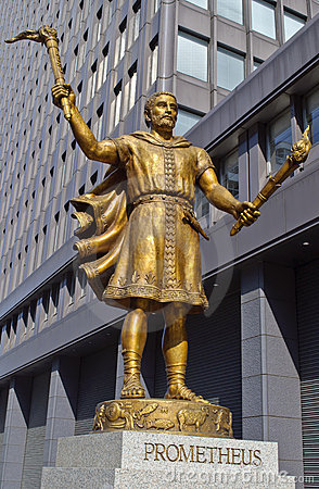 Statue of Prometheus in Tokyo