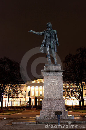 Statue of A. Pushkin in Arts Square, Russia