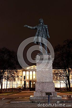 Statue of A. Pushkin in Arts Square, Russia