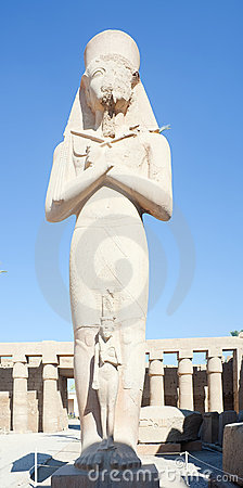 Statue of Ramses II in Karnak temple
