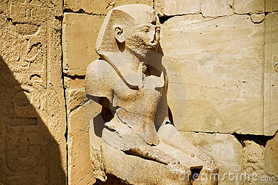 The Statue of Ramses in Karnak Temple