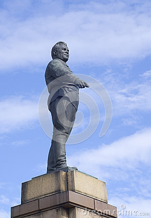 The statue of S.Kirov