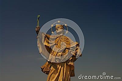 Statue of Saint Nepomuk at old bridge, Wurzburg
