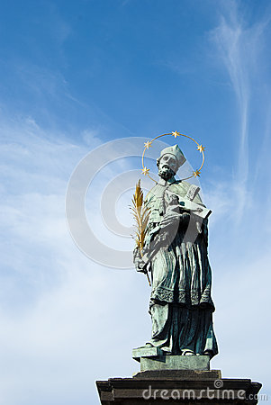 Statue of a saint in Prague