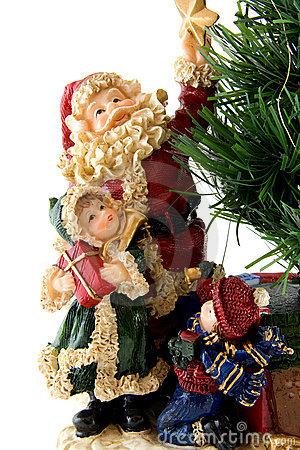 Statue of Santa Claus with children