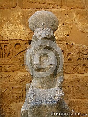 Statue of Sekhmet goddess. Medinet Habu, Luxor