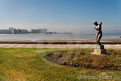 Statue at the Shore Montevideo Uruguay