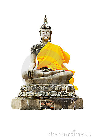Statue of a sitting Buddha