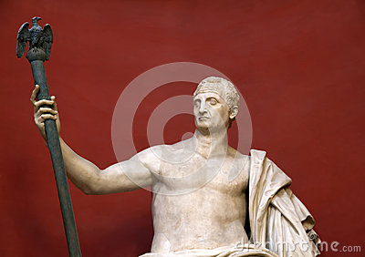 Statue of sitting Caesar