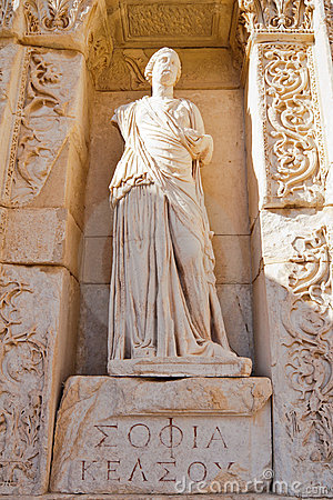 Statue of Sofia in Ephesus