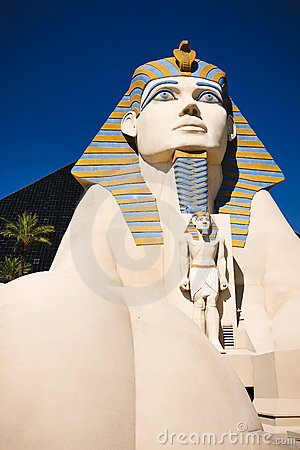 Statue of Sphinx from Luxor Hotel Casino Editorial Image