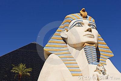 Statue of Sphinx from Luxor Hotel Casino Editorial Photography