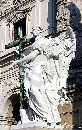 Statue in St. Charles s Church, Vienna