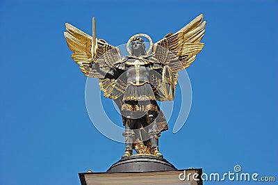 Statue of St. Michael the patron, Kiev