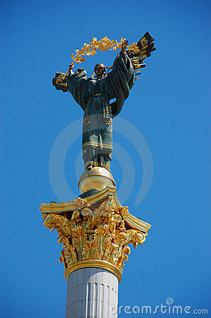Statue of St. Michael the patron, Kiev