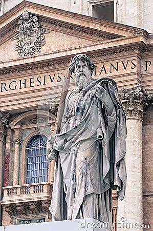 Statue of St. Paul in Vatican, Rome
