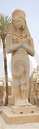 Statue in temple of Ramses 3rd at Karnak