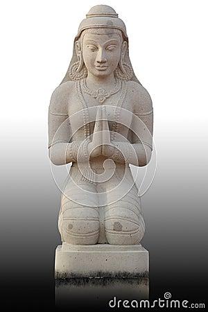 Statue thaïe de fille de type, Thaïlande