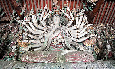 Statue of thousand arms Guanyin buddha