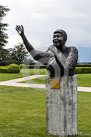 Statue to Aretha Franklin in Montreux Editorial Image