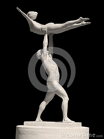 Statue of two gymnasts
