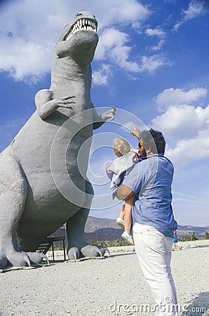 Statue of Tyrannosaurus Rex dinosaur Editorial Image
