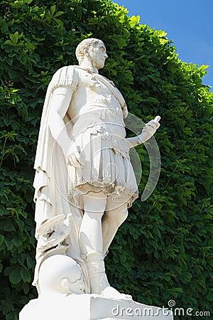 Statue in Versailles garden