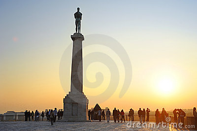 Statue of Victory, Belgrad Editorial Stock Photo