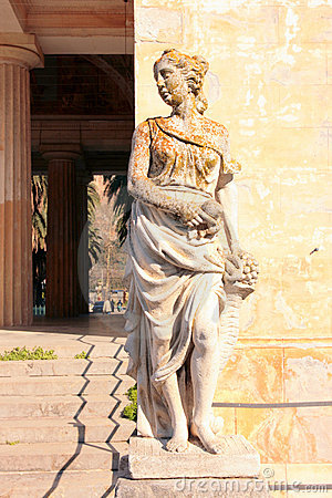 Statue, Villa Bordonaro entrance
