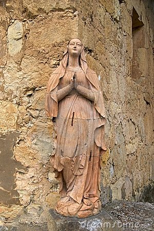Statue of the Virgin Mary, Carmel Mission