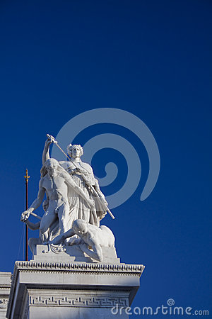 Statue from the Vittoriano, Rome, Italy