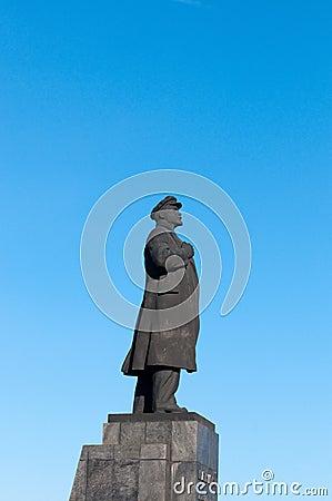 Statue Of Vladimir Lenin In Krasnoyarsk Stock Photo ...