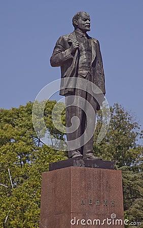 Statue Of Vladimir Lenin In Sochi, Russia Royalty Free ...