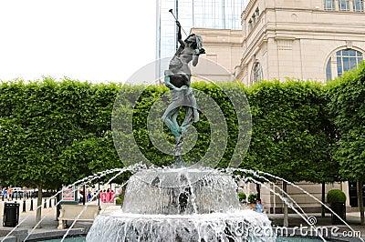 Schermerhorn Symphony Center Water Fountain Nashville Editorial Image