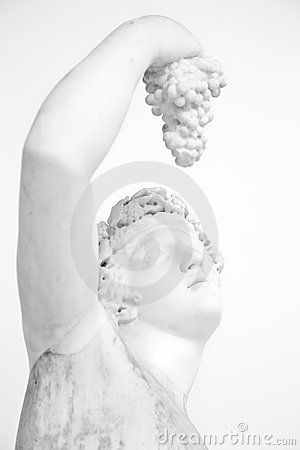 Free Statue With Grapes Royalty Free Stock Images - 23189489