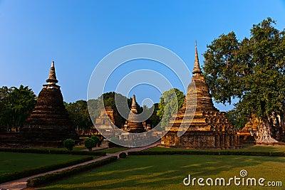 Statues of Buddha, Sukhothai Historical Park.