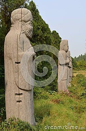 Statues of Dignitaries, Song Dynasty Tombs, China