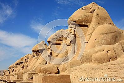 Statues in Karnak Temple