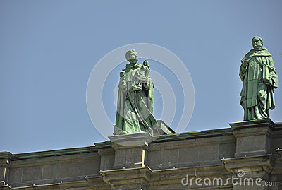 Statues on Mary Queen of the World Cathedral Editorial Stock Photo