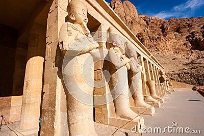 Statues of Osiris at Hapshetpsut  Temple