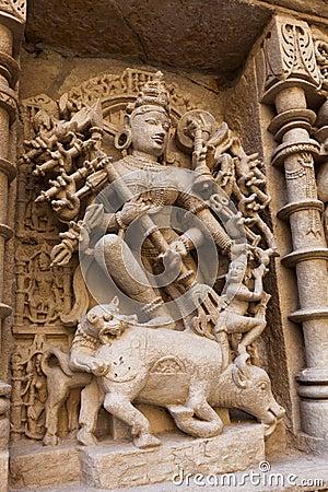 Statues at the Rani Ki Vav Step Well