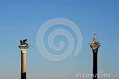 Statues on tall columns