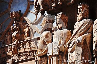Statues at Tarazona Cathedral