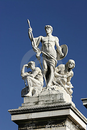 Statues on the Victor Emmanuel Monument, Rome