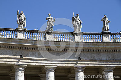 Statues over St Peters Square