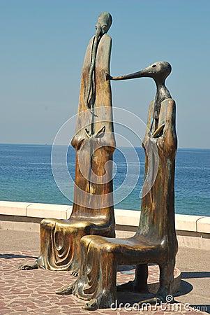 Statutes on the Malecón in Puerto Vallarta