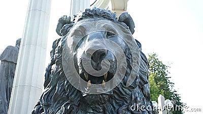 Staty av ett huvud för lejon` s arkivfilmer