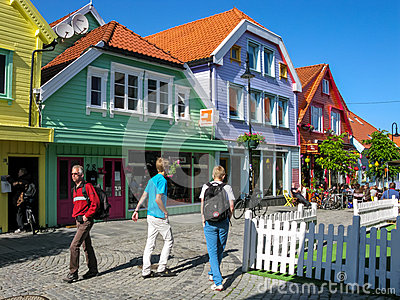 Stavanger city center in Norway Editorial Photo